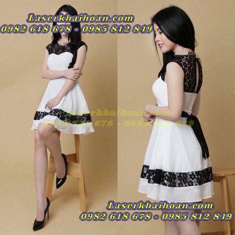 Cắt laser trên vải may váy đầm đẹp và chất lượng