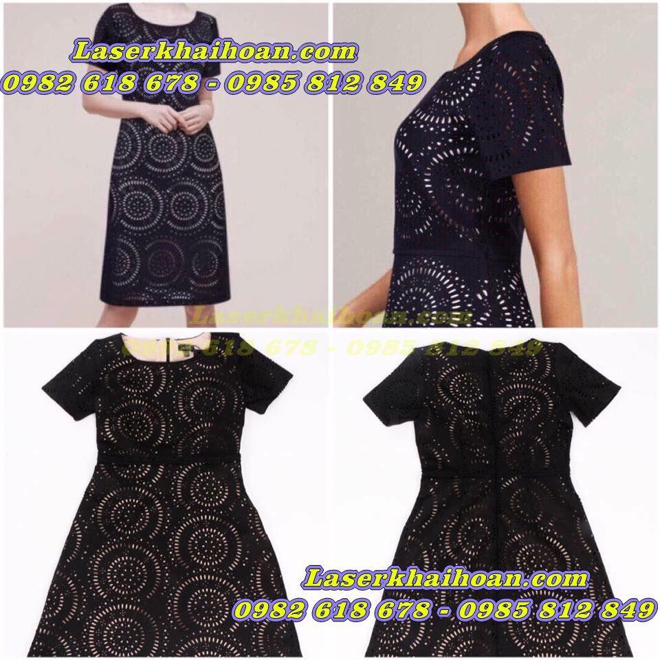 Cắt laser trên vải may váy đầm