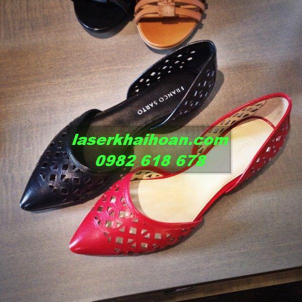 Cắt laser quai giày quai dép chất lượng cao