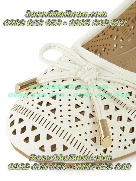 Cắt laser trên giày dép đẹp