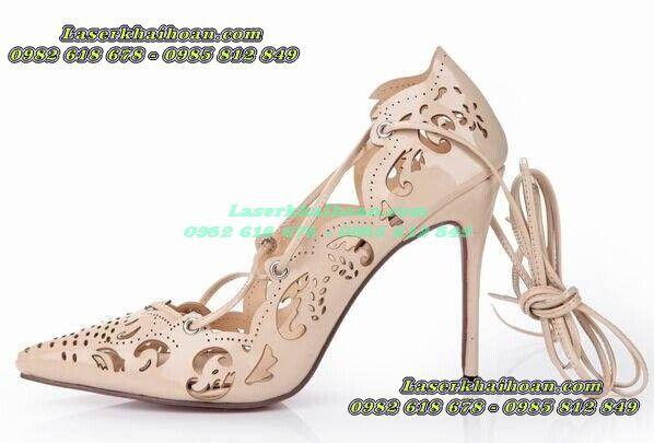 Cắt laser, khắc laser giá rẻ, chất lượng cao trên giày dép da