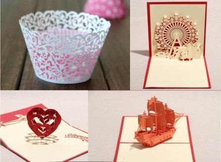 Cắt laser giấy làm đồ handmade đẹp với giá rẻ