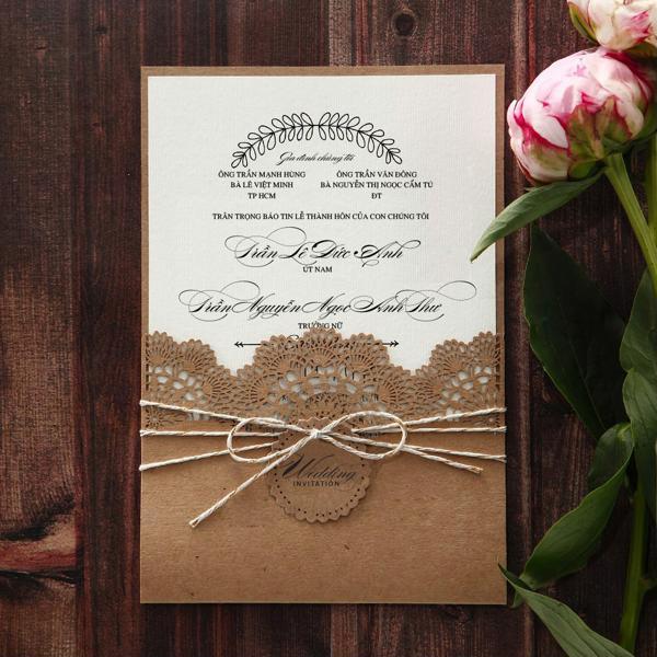 Cắt laser trên giấy - thiệp cưới đẹp, chất lượng cao