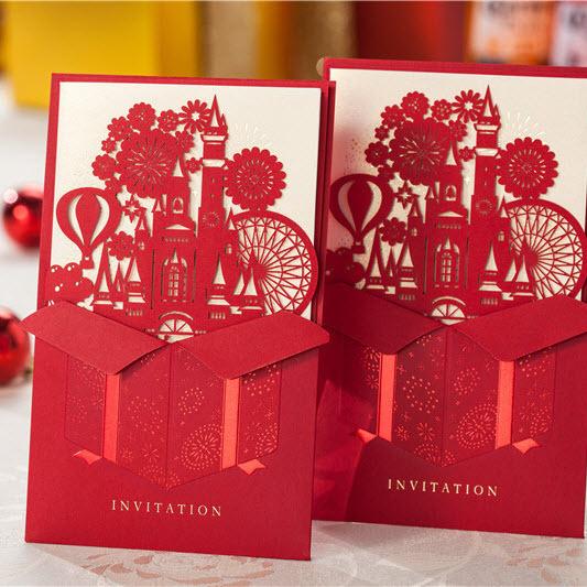 Cắt laser giấy - thiệp cưới với giá rẻ, chất lượng cao