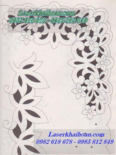 Cắt hoa văn trên khăn trải bàn đẹp và tinh tế