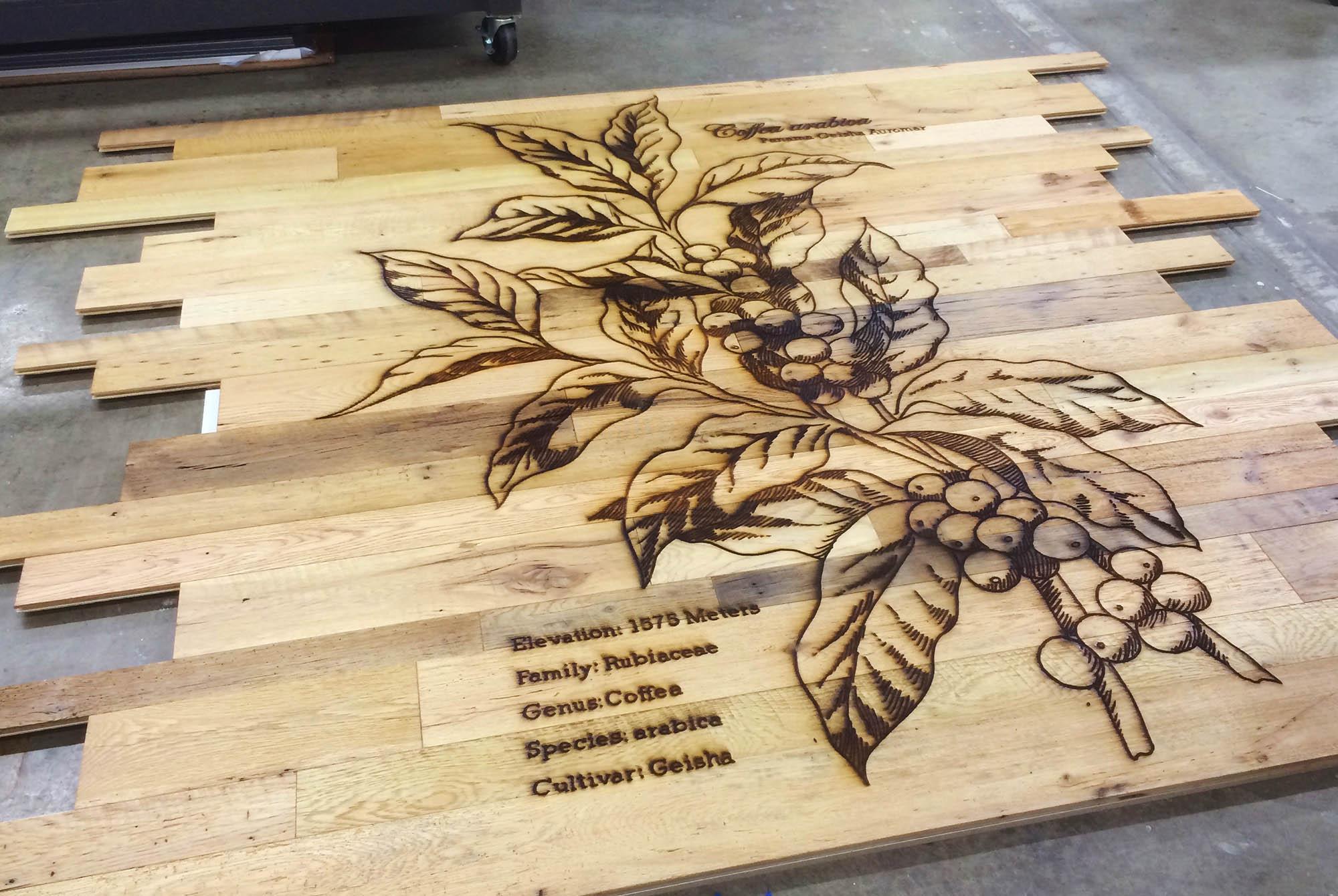 Cắt khắc gỗ bằng máy laser CNC với giá rẻ tại TPHCM