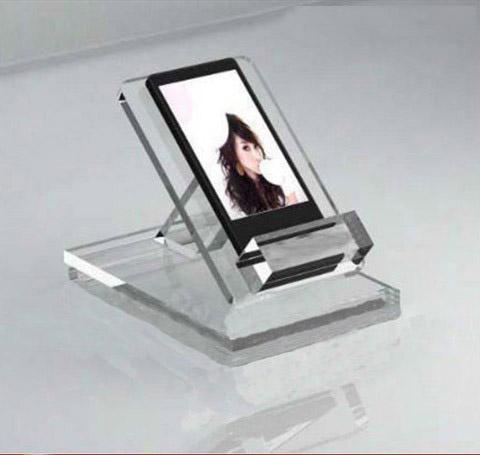 Cắt laser mica trưng bày điện thoại