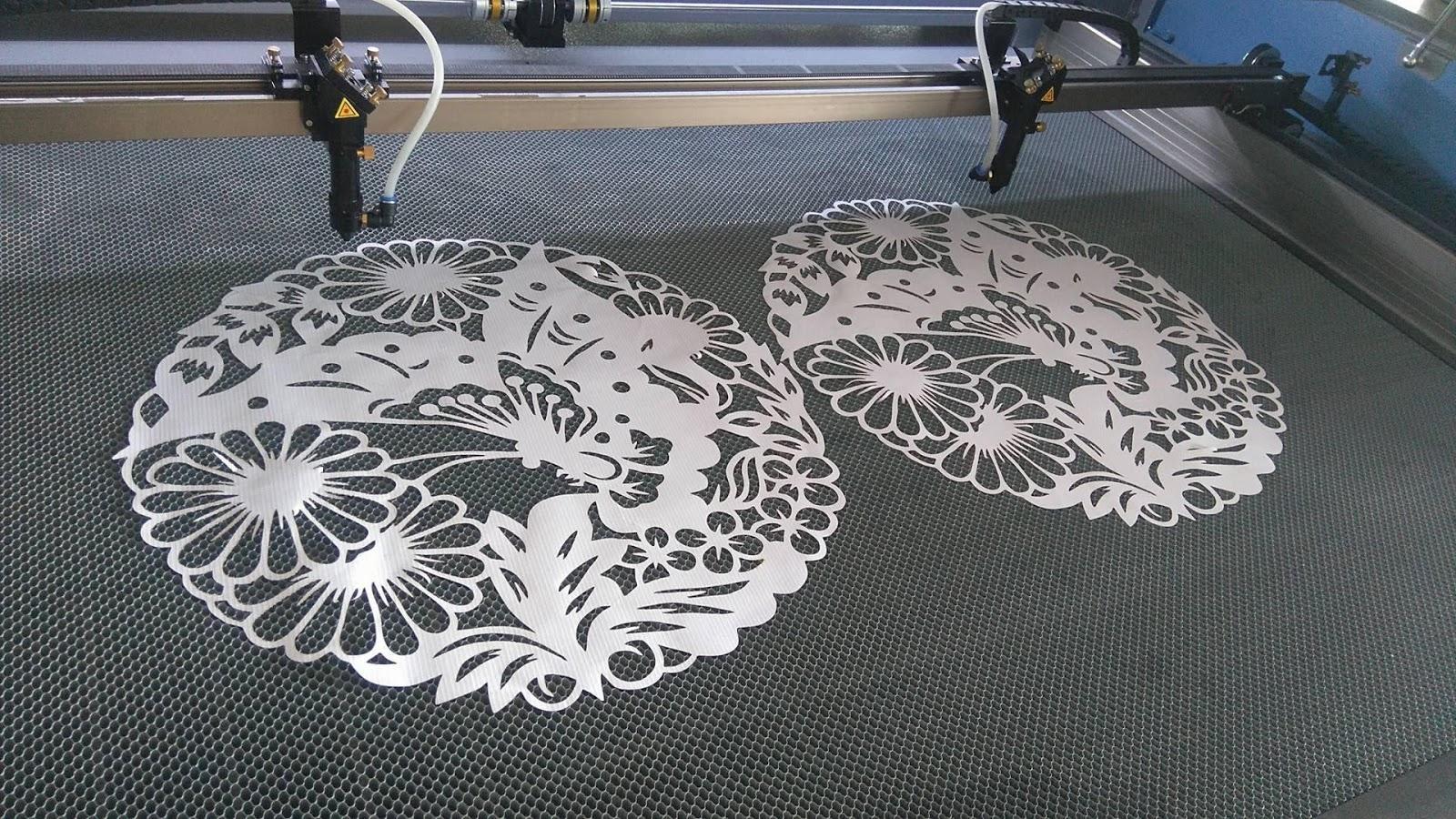 Công nghệ cắt laser hoa văn trên vải với số lượng lớn, chất lượng cao