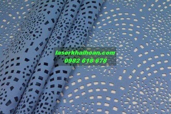 Cắt laser hoa văn trên vải