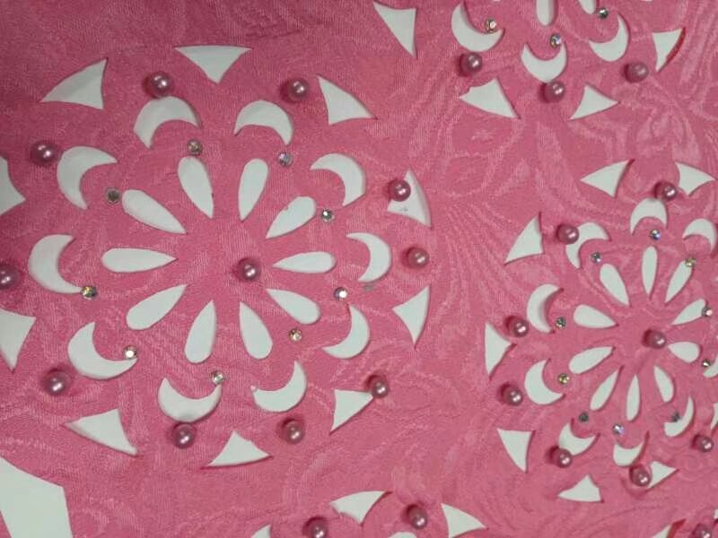 Cắt laser hoa văn, họa tiết trên vải đẹp