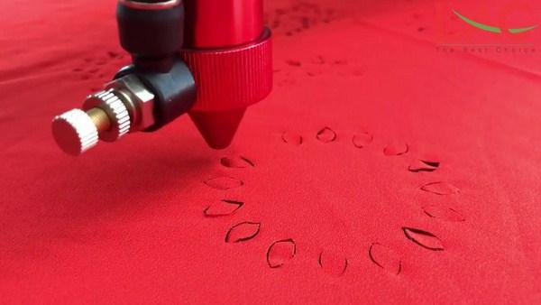 Cắt cánh hoa vải bằng laser