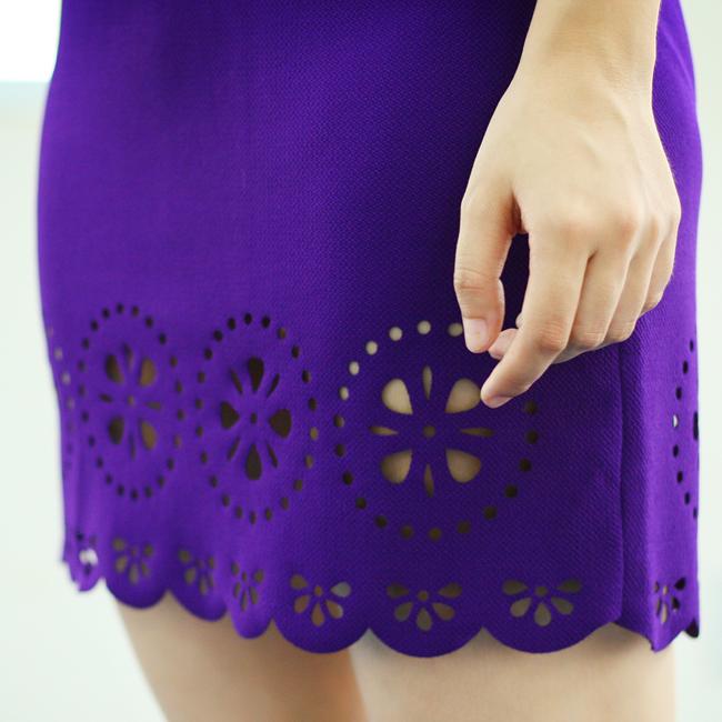 cắt laser trên váy đầm