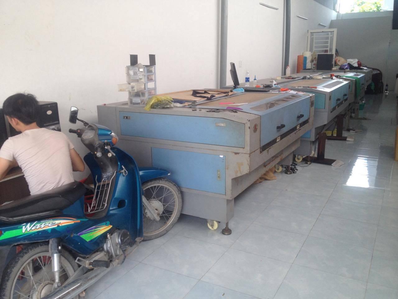 Hệ thống máy cắt laser vải của Laser Khải Hoàn