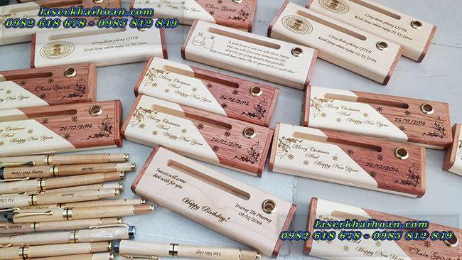 Các sản phẩm bút gỗ khắc tên đa dạng và độc đáo