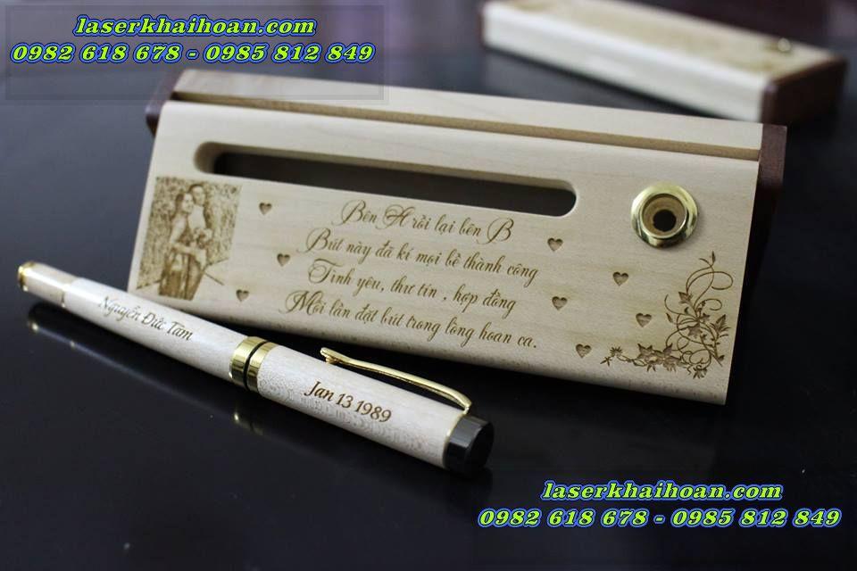 Bút gỗ khắc tên tại tphcm